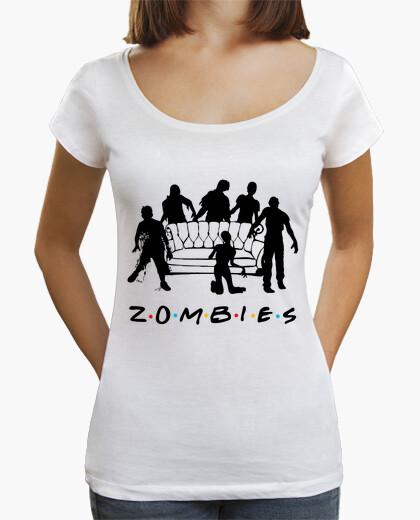 Tee-shirt chemise longue coupe femme zombies