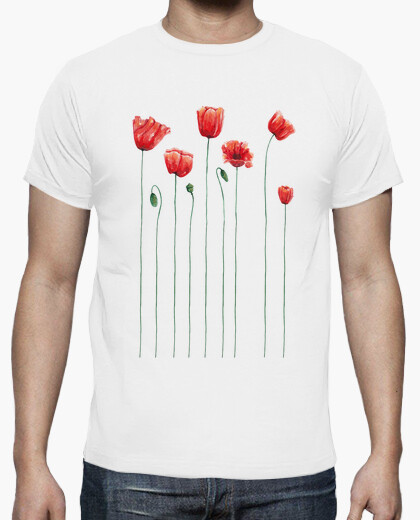 Tee-shirt coquelicots temps