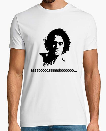 Tee-shirt de niro (avocat) noir sur blanc