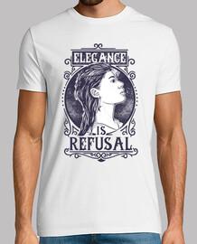 tee-shirt élégance est refus fille vintage rétro