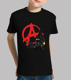 Tee-Shirt Enfant - Anarchie Black Bloc Cat