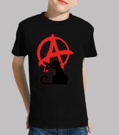 Tee-Shirt Enfant - Black Anarchist Cat