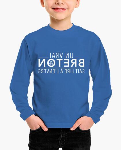 Tee-shirt enfant Un vrai Breton sait lire...