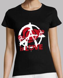Tee-Shirt Femme - Anarchy is love