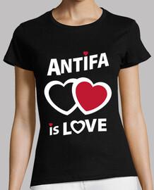 Tee-Shirt Femme - Antifa is love