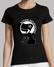 Tee-Shirt Femme - Cat Antifa Pirate