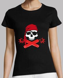 Tee-Shirt Femme - Jolly Roger pirate dynamite