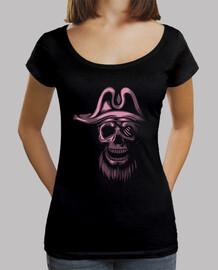 Tee-Shirt Femme - Skull Piratas Pink