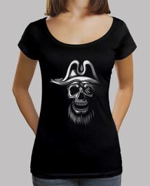 Tee-Shirt Femme - Skull Piratas White