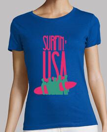 tee-shirt femme - surf usa
