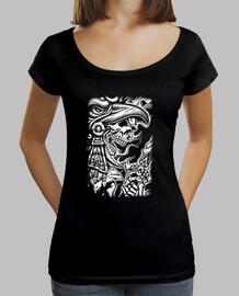 Tee-Shirt Femme col bateau - Dark Skull Azetk