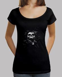 Tee-Shirt Femme col bateau - Dark Skull Hand