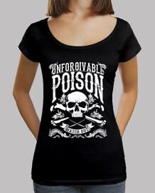 Tee-Shirt Femme col bateau - Dark Skull Poison