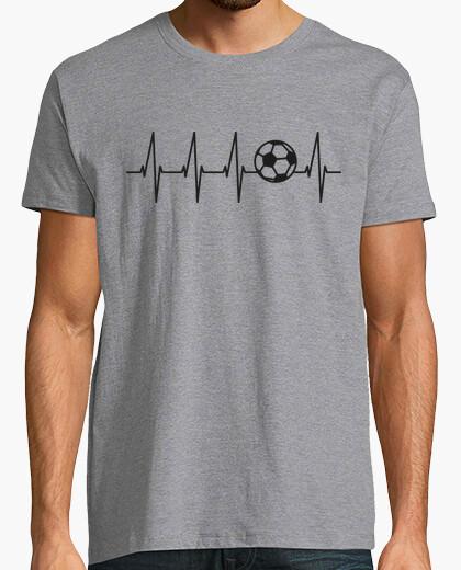 Tee-shirt football dans le coeur (fond clair)