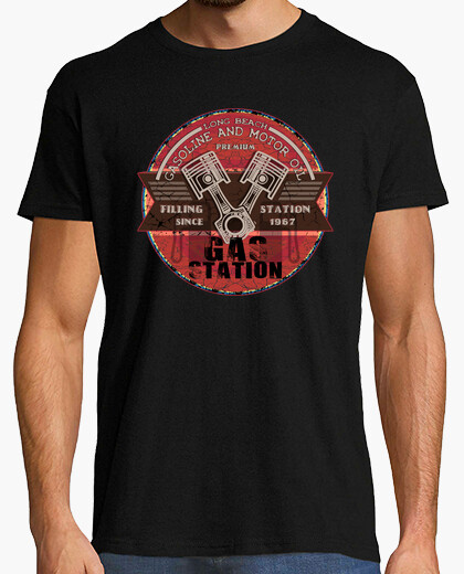 Tee-shirt Gasoline and motor oil