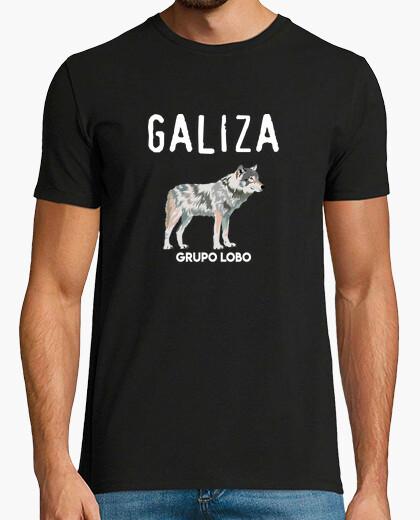 Tee-shirt groupe de loups de galiza,...