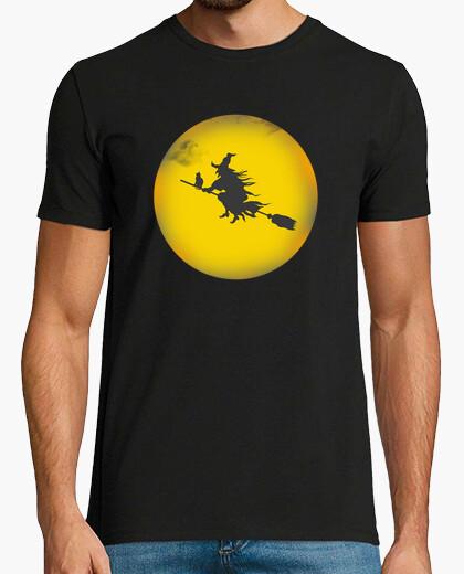 Tee-shirt Halloween Sorciere Chat Lune