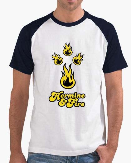 Tee-shirt Hermine & fire - T-shirt homme baseball