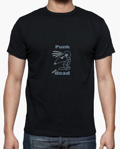 Tee-shirt Hn/ Punk Not Dead Gris by Stef
