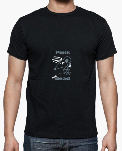 Tee-shirt Hn/ Punk Not Dead white by Stef