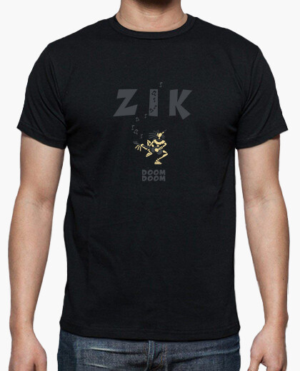 Tee-shirt Hn/ Zik bass noir by Stef