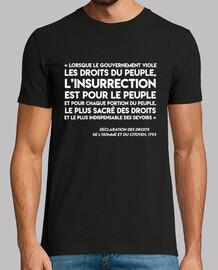 Tee-Shirt Homme - Art35-Insurrection-Blanc