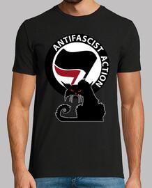 Tee-Shirt Homme - Cat Antifa International Red