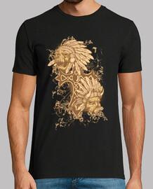 Tee-Shirt Homme - Dark Skull Indian Skull Honey