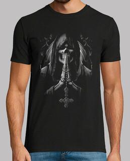 Tee-Shirt Homme - Dark Skull Reaper Santa Muerte