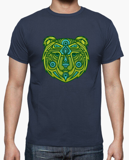 Tee-shirt Homme - Tête d'Ours tribal