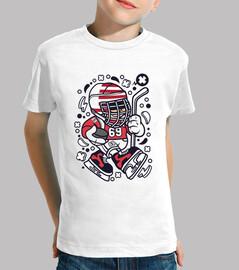 Tee-shirt humour de bande dessinée de hockey sur glace