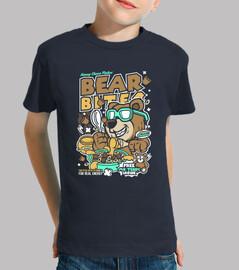 Tee-shirt humour ours bande dessinée juvénile