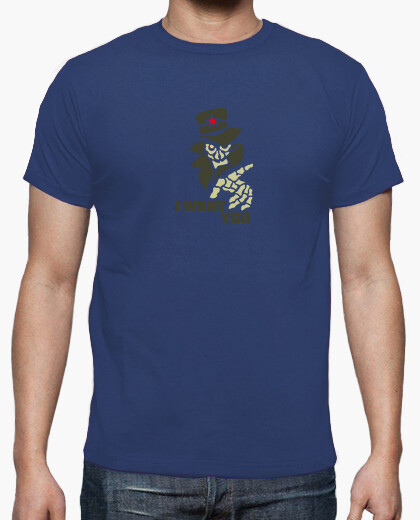Tee-shirt I Want You Army Clair by Stef