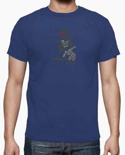 Tee-shirt I Want You Noir by Stef