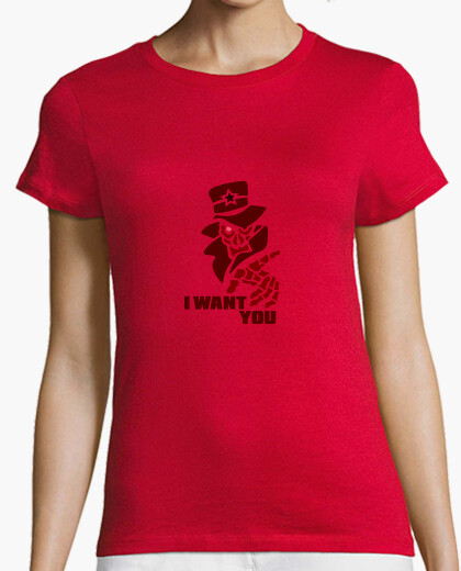 Tee-shirt I Want You Rouge by Stef