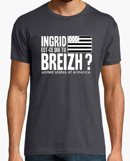 Tee-shirt Ingrid est-ce que tu Breizh ? - T-shirt homme