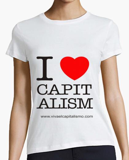 Tee-shirt je aime le capitalisme  femme