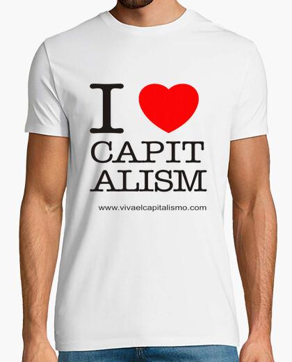 Tee-shirt je aime le capitalisme  homme
