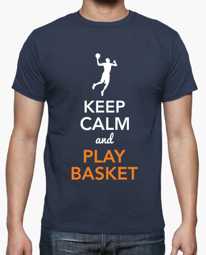 Tee-shirt Keep Calm and Play Basket (homme)