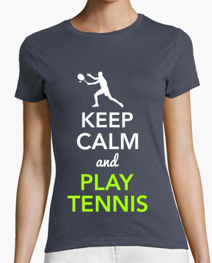 Tee-shirt Keep Calm and Play Tennis