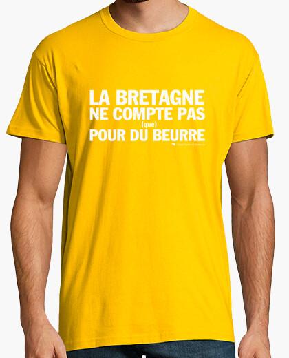 Tee-shirt La Bretagne ne compte pas que pour du be