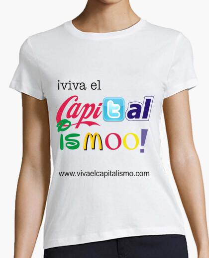 Tee-shirt le capitalisme en vie!  femme