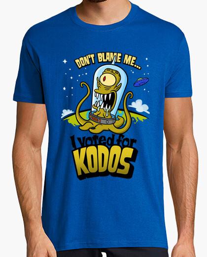 Tee-shirt les simpson: i voté pour kodos