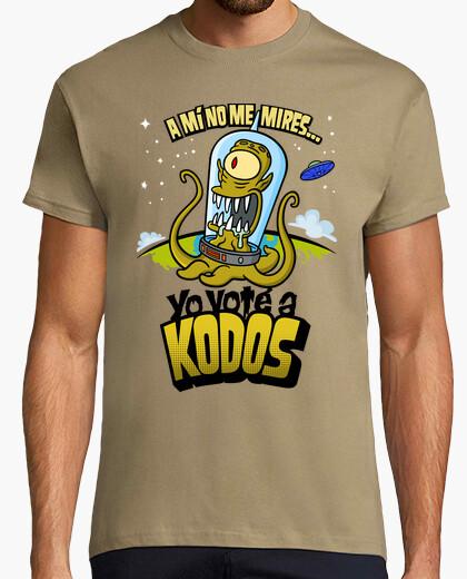 Tee-shirt les simpson: j'ai voté pour kodos