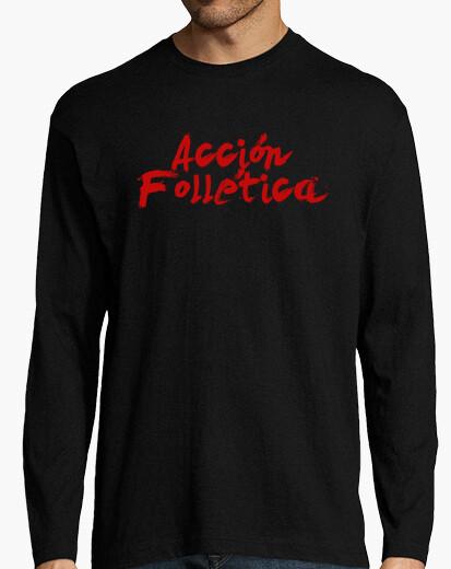 Tee-shirt logo d'action follética