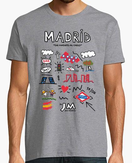 Tee-shirt madrid (texte noir) - jesu medina