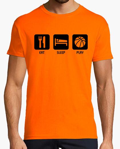 Tee-shirt manger, dormir, jouer