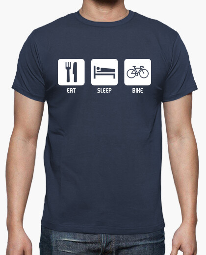 Tee-shirt manger, dormir, vélo