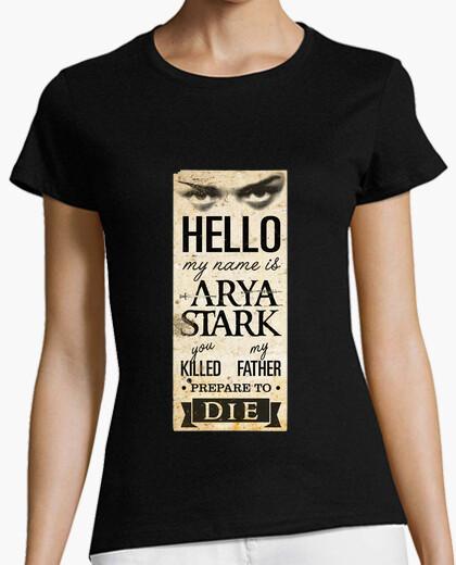 Tee-shirt mon nom est arya stark 2