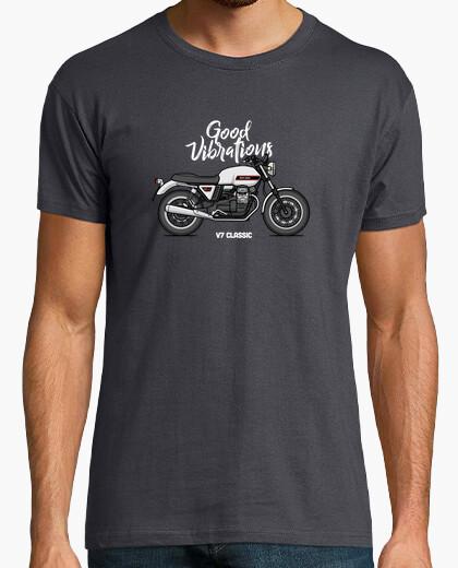 Tee-shirt Moto Guzzi v7 c les sic blanc